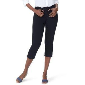 NYDJ Release Hem Capri Skinny Jeans MCFO2132 Black